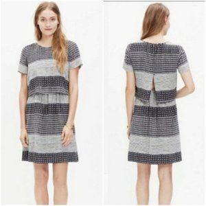 Madewell Silk Hashtag Striped Print 10 Dress NWT
